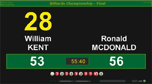 Billiards Scoreboard Software