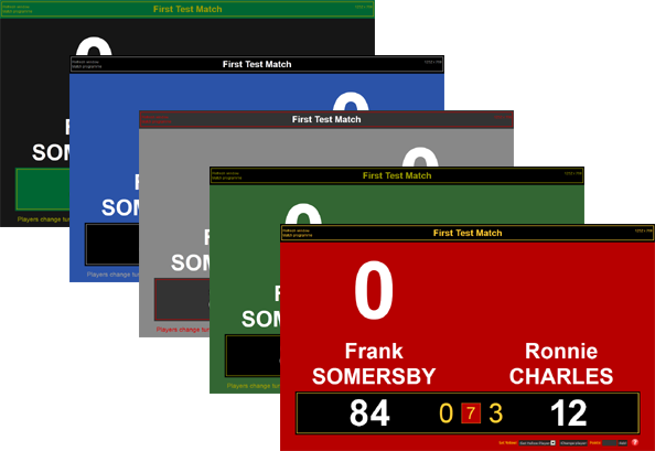Select from 5 different scoreboard designs